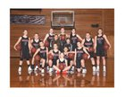 Wahkiakum Mules Girls Varsity Basketball Winter 17-18 team photo.