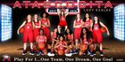 Atascocita Eagles Girls Varsity Basketball Winter 17-18 team photo.