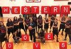 Western  Girls Varsity Basketball Winter 17-18 team photo.
