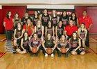 Grants Pirates Girls Varsity Basketball Winter 17-18 team photo.