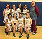 Calvary Christian Academy Royal Knights Girls Varsity Basketball Winter 17-18 team photo.