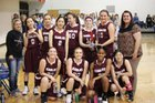 Pikes Peak Christian Eagles Girls Varsity Basketball Winter 17-18 team photo.