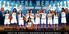 Pasadena Memorial Mavericks Girls Varsity Basketball Winter 17-18 team photo.