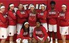 Mountain Pine Red Devils Girls Varsity Basketball Winter 17-18 team photo.