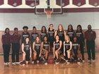 Jay M. Robinson Bulldogs Girls Varsity Basketball Winter 17-18 team photo.