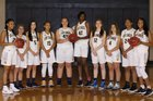 Northwood Temple Academy Eagles Girls Varsity Basketball Winter 17-18 team photo.