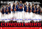 Los Altos Conquerors Girls Varsity Basketball Winter 17-18 team photo.