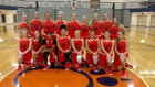 Carterville Lions Girls Varsity Basketball Winter 17-18 team photo.