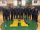 Roosevelt Roughriders Girls Varsity Basketball Winter 17-18 team photo.