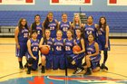 Hot Springs Tigers Girls Varsity Basketball Winter 17-18 team photo.
