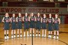 Newport Grizzlies Girls Varsity Basketball Winter 17-18 team photo.