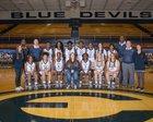 Elbert County Blue Devils Girls Varsity Basketball Winter 17-18 team photo.
