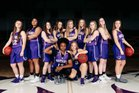 Central Arkansas Christian Mustangs Girls Varsity Basketball Winter 17-18 team photo.
