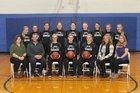 Bucklin-Macon County Bulldogs Girls Varsity Basketball Winter 17-18 team photo.