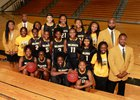 Valdosta Wildcats Girls Varsity Basketball Winter 17-18 team photo.