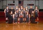 R.A. Long Lumberjacks Girls Varsity Basketball Winter 17-18 team photo.