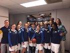 Highland School of Technology Rams Girls Varsity Basketball Winter 17-18 team photo.