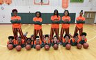 Dunbar Tigers Girls Varsity Basketball Winter 17-18 team photo.