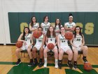 Roanoke Catholic Celtics Girls Varsity Basketball Winter 17-18 team photo.