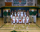 West Las Vegas Dons Girls Varsity Basketball Winter 17-18 team photo.