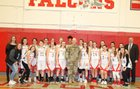 Cranston West Falcons Girls Varsity Basketball Winter 17-18 team photo.