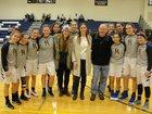 Brookfield Academy Blue Knights Girls Varsity Basketball Winter 17-18 team photo.