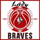 Riverside Indian Braves Girls Varsity Basketball Winter 17-18 team photo.