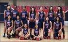 East Bakersfield Blades Girls Varsity Basketball Winter 17-18 team photo.