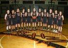 Rainier Mountaineers Girls Varsity Basketball Winter 17-18 team photo.