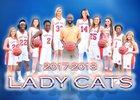 Westwood Wildcats Girls Varsity Basketball Winter 17-18 team photo.