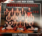 Magnet Cove Panthers Girls Varsity Basketball Winter 17-18 team photo.