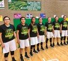 Newcomb Skyhawks Girls Varsity Basketball Winter 17-18 team photo.