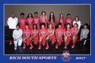 Rich South Stars Girls Varsity Basketball Winter 17-18 team photo.
