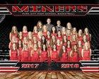 Park City Miners Girls Varsity Basketball Winter 17-18 team photo.