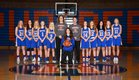 Ridgefield Spudders Girls Varsity Basketball Winter 17-18 team photo.