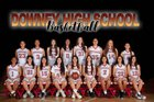 Downey Vikings Girls Varsity Basketball Winter 17-18 team photo.