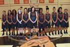 Newport Greyhounds Girls Varsity Basketball Winter 17-18 team photo.