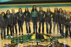 Eureka Vandals Girls Varsity Basketball Winter 17-18 team photo.