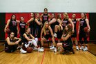 Avery County Vikings Girls Varsity Basketball Winter 17-18 team photo.
