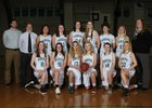 Port Angeles Roughriders Girls Varsity Basketball Winter 17-18 team photo.