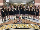 Brennan Bears Girls Varsity Basketball Winter 17-18 team photo.