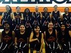 Coalinga Horned Toads Girls Varsity Basketball Winter 17-18 team photo.