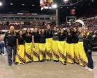 Poplar Indians Girls Varsity Basketball Winter 17-18 team photo.