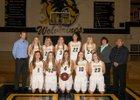 Bellevue Wolverines Girls Varsity Basketball Winter 17-18 team photo.