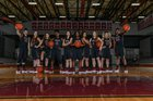 Pearland Oilers Girls Varsity Basketball Winter 17-18 team photo.