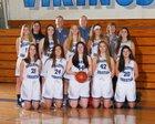 Bellevue Christian Vikings Girls Varsity Basketball Winter 17-18 team photo.