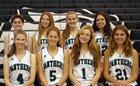 Pine Crest Panthers Girls Varsity Basketball Winter 17-18 team photo.