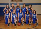Westbrook Wildcats Girls Varsity Basketball Winter 17-18 team photo.