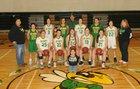 Inchelium Hornets Girls Varsity Basketball Winter 17-18 team photo.