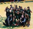 Lithia Springs Lions Girls Varsity Basketball Winter 17-18 team photo.